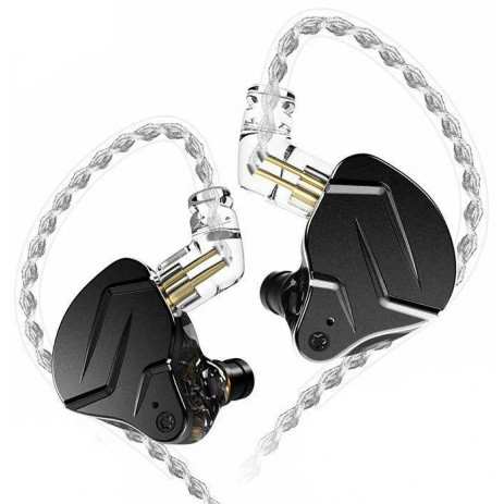 Наушники KZ ZSN Pro X с микрофоном (чёрный)
