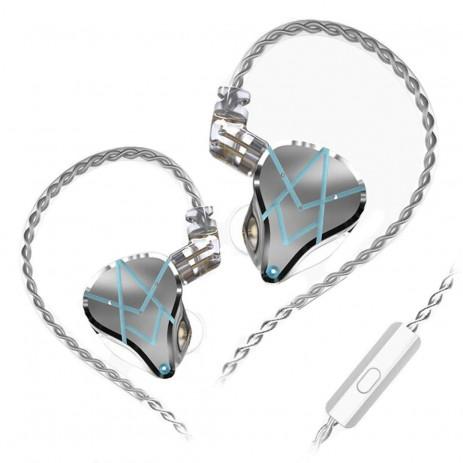 Наушники KZ Acoustics ASX с микрофоном (серебристый)